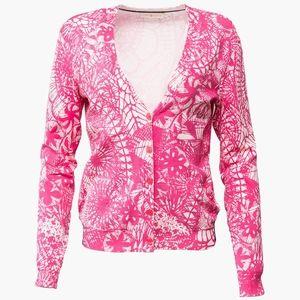 TORY BURCH – Pink Pattern Cardigan